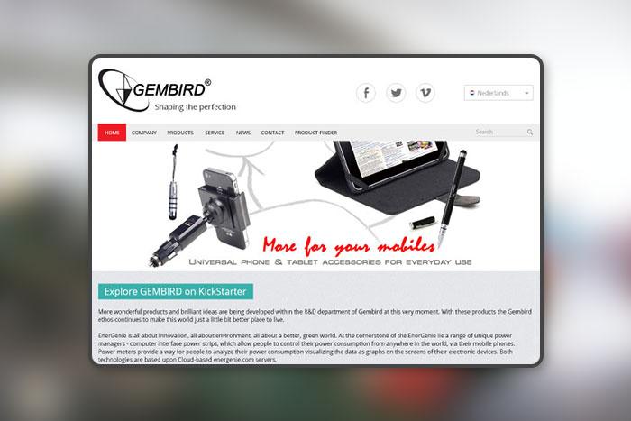Компания Gembird корпоративный сайт