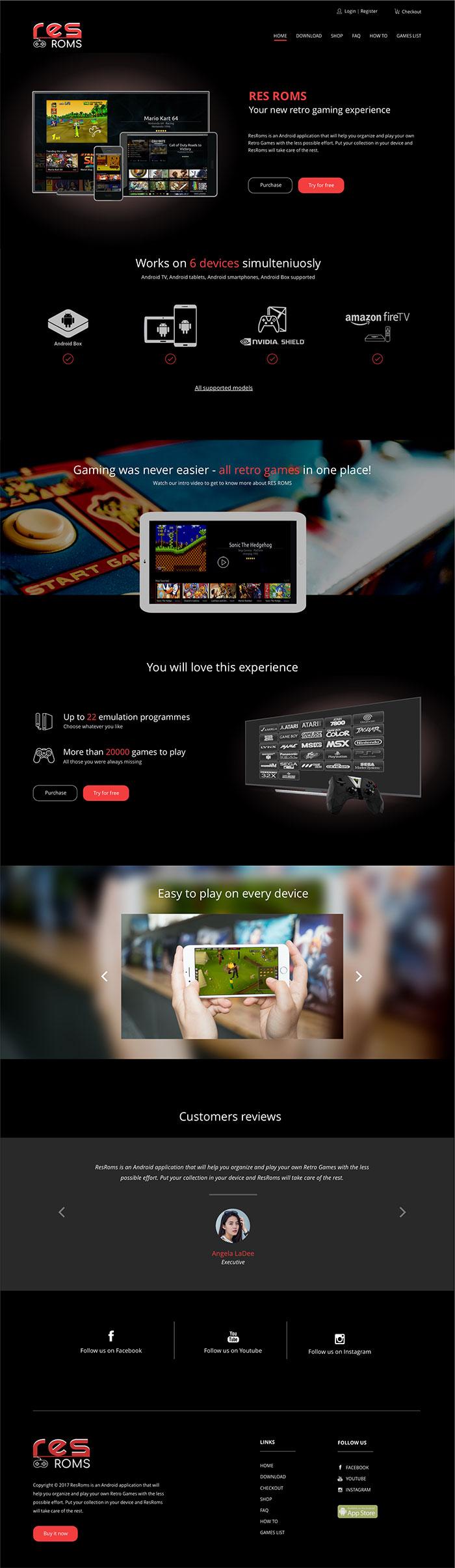 Продажа приложения для эмуляции ретро игр